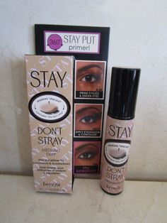 Eye Shadow Primer: Benefit Stay Dont Stray Stay-Put Primer For Concealer And Eyeshadows Medium Deep -> BUY IT NOW ONLY: $31 on eBay!