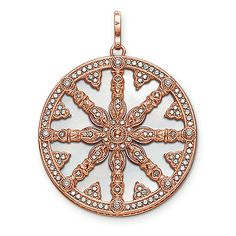 """pendant """"Karma Wheel with mother-of-pearl disc"""" - – from the Karma Beads collection from USD Order now easy & secure in our official THOMAS SABO online shop! Thomas Sabo, Fashion Beads, Fashion Jewelry, Women Jewelry, Rose Gold Pendant, Sterling Silver Pendants, Jewellery Uk, Fine Jewelry, Mother Of Pearl Rose"""