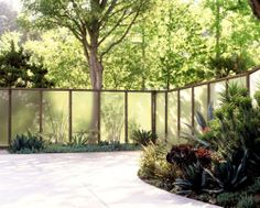 Fascinating Useful Tips: Backyard Fence Articles fence lighting diy.Front Yard Fence Doors fence and gates ranch. Fence Landscaping, Backyard Fences, Garden Fencing, Modern Landscaping, Pool Fence, Brick Fence, Front Yard Fence, Concrete Fence, Bamboo Fence