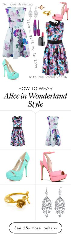 """""""// like a girl in love //"""" by tangie-leigh on Polyvore featuring Closet, Almari, Qupid, Lancôme, 1928, Lauren Ralph Lauren, ALDO, Maybelline, D'Yach and Alex Monroe"""