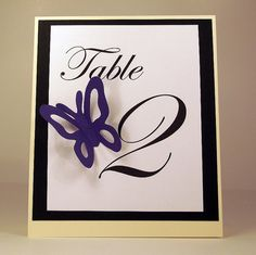 Butterfly Spring Wedding Table Numbers by SweetandSassyCards on Etsy