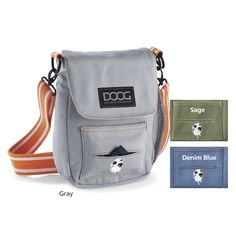 Walkie Carryall Dog Bag ~ Essential dog walking bag ~ Compact but large enough to hold wallet, keys, sunglasses along with your dog's toys and treats ~ Room for a water bottle, cell phone, and doggy bags with built-in dispenser ~ Perfect Autumn dog walk companion | In the Company of Dogs