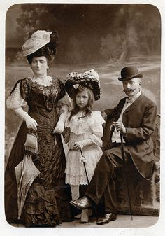 Family portrait, Hungarian, c. 1890s.