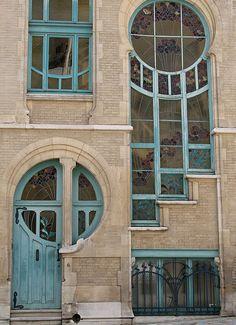 . Art Nouveau House Exterior Architecture