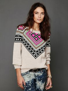 Free People Intarsia Pullover, $548.00