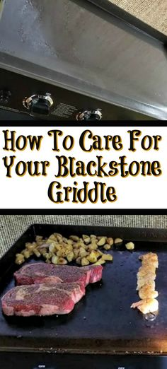 How To Care For Your Blackstone Griddle! From assebmling, to seasoning, and cooking the Blackstone Griddle is easy to use and the food taste amazing! - How To Care For Your Blackstone Griddle Outdoor Griddle Recipes, Pellet Grill Recipes, Grilling Recipes, Cooking Recipes, Flat Top Griddle, Griddle Grill, Stones Recipe, Blackstone Grill, Cooking Stone