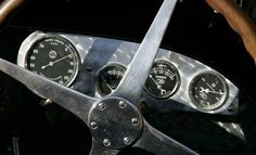 1933 Bugatti Type 59 car dash.