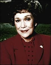 "Jane Wyman -- (1/15/1917-9/10/2007).  Singer, Dancer & Film/Television Actress. She portrayed Angela Channing on TV Series ""Falcon Crest"". Movies -- ""Bon Voyage!"" as Katie Willard, ""How to Commit to Marriage"" as Elaine Benson, ""Pollyanna"" as Aunt Polly, ""Holiday For Lovers"" as Mrs. Mary Dean and ""Miracle in the Rain"" as Ruth Wood. She died of Natural Causes at age 90. Her birthname was Sarah Jane Mayfield. Iconic Movies, Classic Movies, Falcon Crest, Jane Wyman, Pete Seeger, Oscar Wins, We The People, Nice People, Steel Magnolias"
