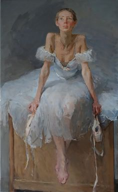 Ballet Dancer by Valeriy Gridnev Copyright remains with the artist. New Exhibition now open! Ballet Art, Ballet Dancers, Ballerina Painting, Contemporary Ballet, Daily Pictures, People Art, Fine Art Gallery, Figure Painting, Painting Inspiration