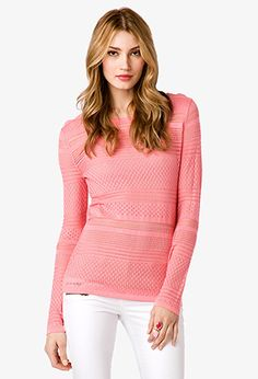 Pointelle Knit Sweater | FOREVER 21 - 2022821643