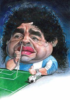 Caricature Maradona