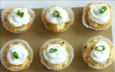Cheddar and Herb cupcakes with Goat Cheese Frosting.  These were amazing!