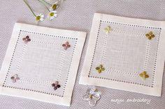 Drawnwork Embroidery Theme : Autumn Hydrangea - Mayu Embroidery