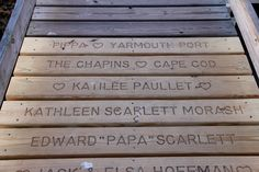 Nantucket, Cape Cod, New England, Memorial Ideas, Planks, Boston, Names, Gift Ideas, Activities