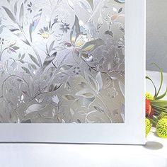 New Lifetree Vinyl Design Creative Tulip Flowers Stained ...