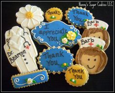 thank you sugar cookies   Thank you cookies for a Dr. and nurse.