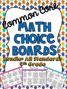 Love!!  Math choice boards... New addition from one of my fave TPT members!!