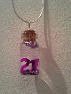 Confetti In A Bottle Wish Necklace by ImaginationFresh on Etsy, $15.00
