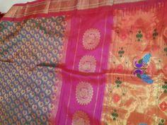 Paithani Saree with jamewari weave.