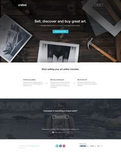 Crated beta landing page by Ryan Johnson