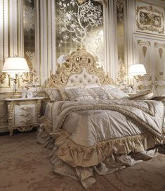 Luxury Classic Italian Bedroom Set. The highest quality of each of the elements, stylish and unique design, the attention to all the little details. Visit our beautiful exclusive showroom for more details.