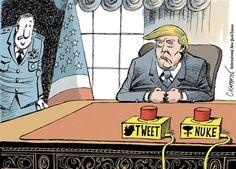 EUA - Os primeiros cartoons sobre a presidência Trump