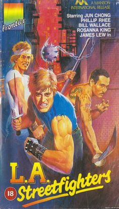 """VHS cover art: """"LA Streetfighters"""" (1985) #vandroid"""