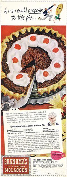 1946 Grandma's Molasses Pecan Pie
