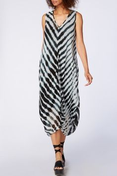 Sahara Shibori Georgette Bubble Dress