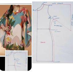 Inspiração para criar lindas peças 😍❤ .  Está com dificuldade de encontrar moldes em português prontos. Ou quer aprender a costurar?  Que… Sleeves Designs For Dresses, Sleeve Designs, Dress Sewing Patterns, Clothing Patterns, Cute Dresses, Dresses For Work, Diy Clothes, Clothes For Women, Abaya Fashion