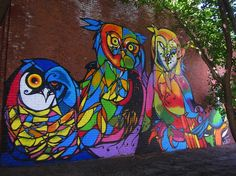 Huge Mural of Colorful Owls Spotted in DUMBO, New York - Craig Anthony Miller aka CAM #streetart