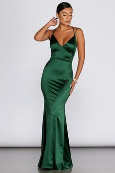 Green Formal Dresses, Cute Prom Dresses, Prom Outfits, Ball Dresses, Satin Dresses, Emerald Green Bridesmaid Dresses, Emerald Green Formal Dress, Emerald Prom Dress, Ball Gowns