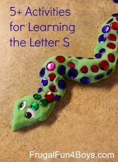 "Five hands-on activities for learning the letter ""S"""
