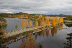 Fall in Finland. The Lietvesi Lake near Puumala, East Finland.
