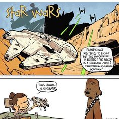 This is another series of Star Wars: The Force Awakens comics in the style of Bill Watterson's Calvin And Hobbes (previously: the first part) by artist Brian Kesinger. Star Wars Quotes, Star Wars Humor, Star Wars Comics, Star Wars Art, Marvel Comics, Luke Skywalker, Geeks, Starwars, Emo