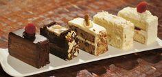 Assorted Karen's Bakery cake slices