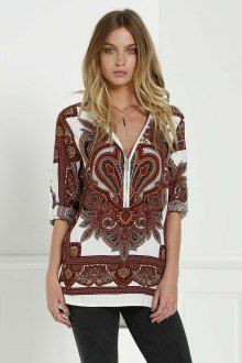 Vintage Floral Print Zippered Blouse - I like this. Do you think I should buy it?