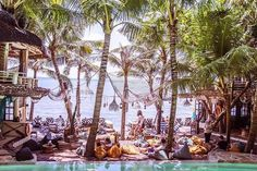 From magnificent mountains to rugged coastlines to volcanic hillsides to black sandy beaches, Bali boasts a rich and diverse culture. Restaurant Design, Restaurant Bar, African Jungle, African House, Jungle House, Tiki Lounge, Beach Bungalows, Beach Ideas, Beach Camping