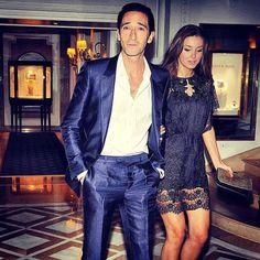 Adrian Brody et Lara Lieto au dîner Vanity Fair x Chanel au Festival de Cannes