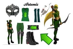 """""""Artemis-Young Justice"""" by atenaide86 ❤ liked on Polyvore featuring Christian Louboutin, Andrea Marques, Alaïa, Masquerade, Versace and Maison Margiela"""