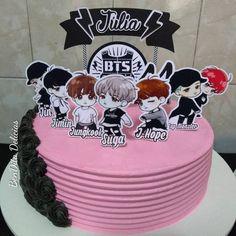 Army Birthday Cakes, Army's Birthday, Bithday Cake, Pretty Birthday Cakes, Pretty Cakes, First Love Bts, Bts Cake, Cute Baking, Bts Birthdays
