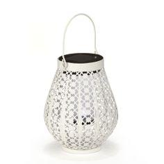 Lanterne solaire blanche Blanche - Casablanca - L'éclairage solaire - Le luminaire de jardin - Jardin - Décoration d'intérieur - Alinéa #AlineaPE2014