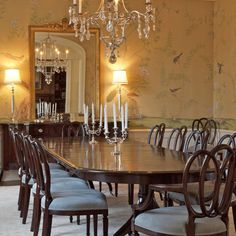 Dining Room At Hillsborough House See More Of Giannetti Homes Napoli On 1stdibs