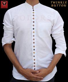 Formal Men Outfit, Men Dress, Shirt Dress, Moda Casual, Shirt Embroidery, New Trends, New Fashion, Chef Jackets, Shirt Designs
