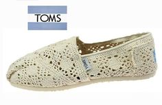 TOMS shoes,fresh and ready for your feet,god...SAVE 75% OFF! It's pretty cool (: just check image! | See more about crochet shoes, toms shoes outlet and toms outlet. | See more about crochet shoes, toms shoes outlet and toms outlet.