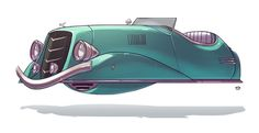 """Ze Future 06 Dick Tracy meets the Jetsons in Tel Aviv based artist Ido Yehimovitz's illustrated series, Ze Future. Makes you wonder if we'll ever see hovering vehicles in """"ze future"""""""