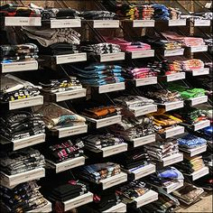 Retail Fixtures, Store Fixtures, Cantilever Shelf, Steel Racks, Mounted Shelves, Perforated Metal, Retail Merchandising, Slat Wall, Hot Topic