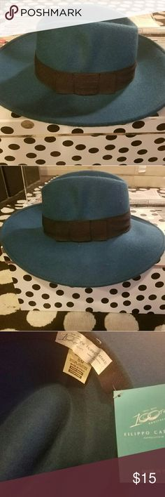 Dark turquoise wide brim hat Dark turquoise wide brim hat. Great for fall/winter styling. Never worn! ASOS Accessories Hats