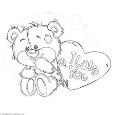 46 Coloring Pages Of Cute Teddy Bears Pictures