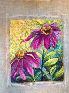 Mmmm, the backgound is wonderful behind the vivid flowers. I love it.  Cone flowers Elaine Armenta